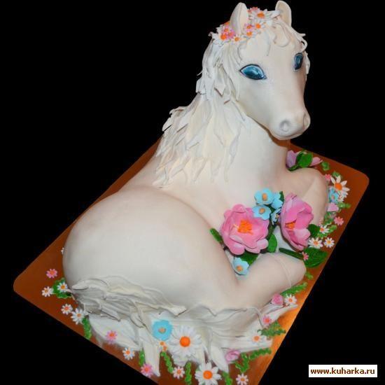Фото торт с лошадками 006