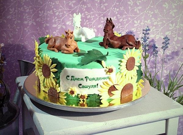 Фото торт с лошадками 007