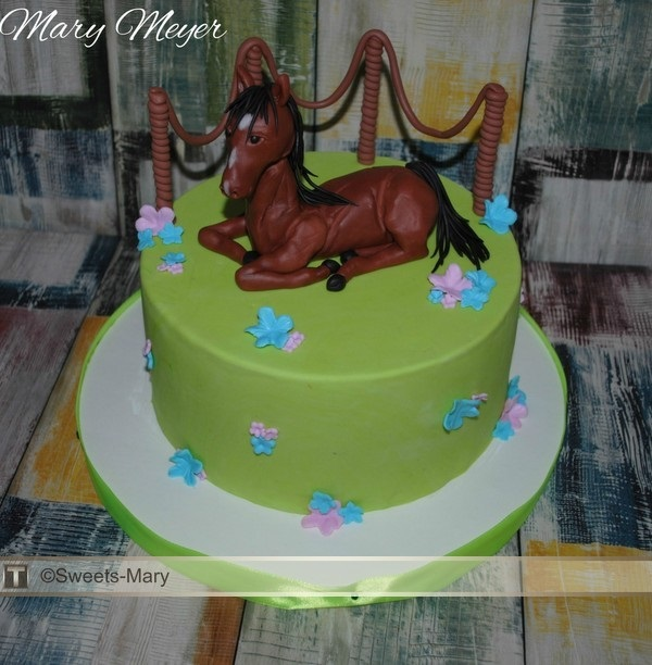 Фото торт с лошадками 008