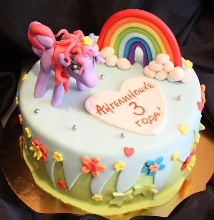 Фото торт с лошадками 011