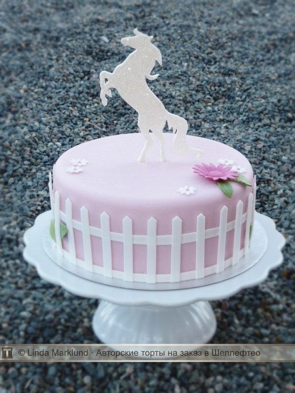 Фото торт с лошадками 013