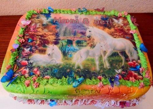 Фото торт с лошадками 014