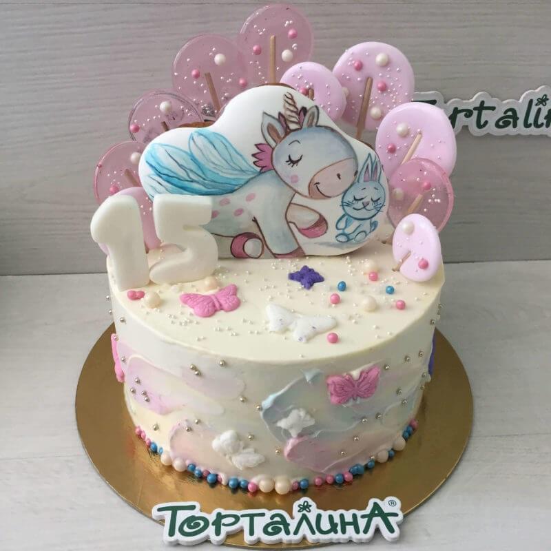 Фото торт с лошадками 015