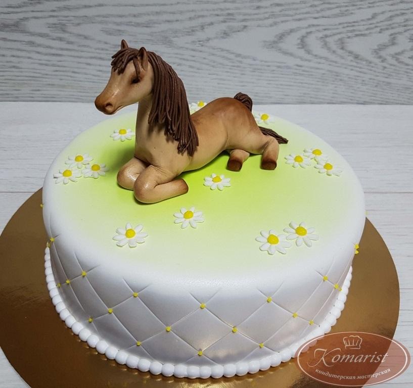 Фото торт с лошадками 016