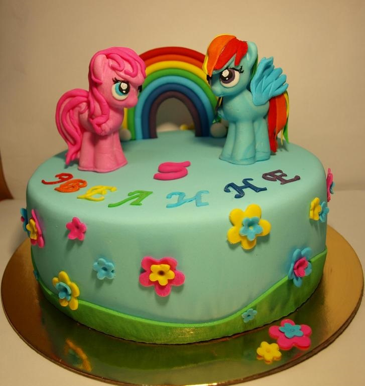 Фото торт с лошадками 017