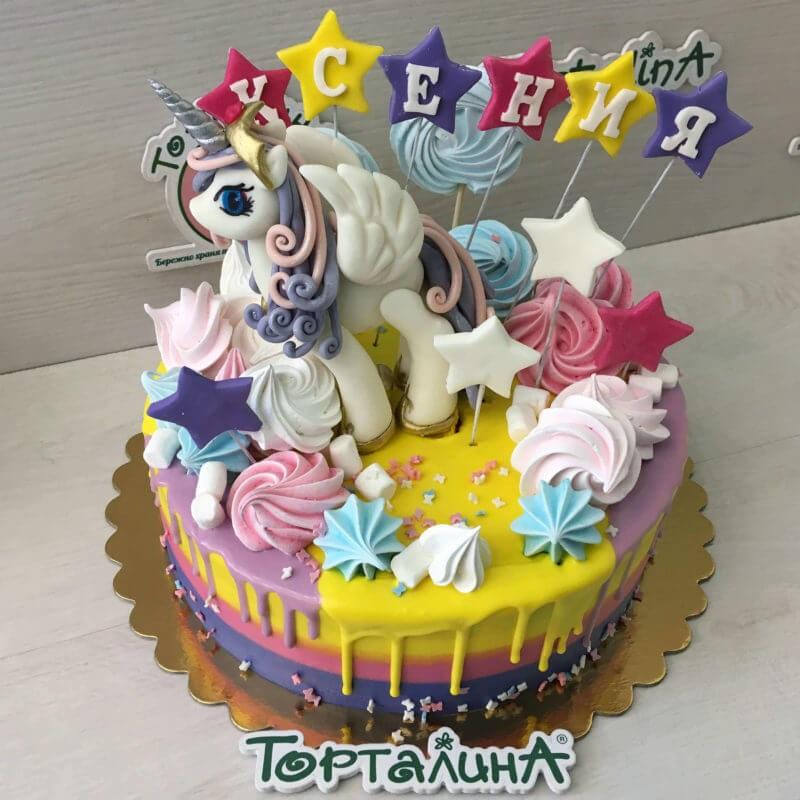 Фото торт с лошадками 021