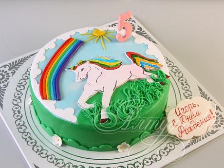 Фото торт с лошадками 024