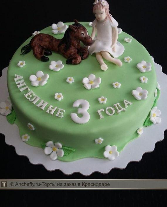 Фото торт с лошадками 025