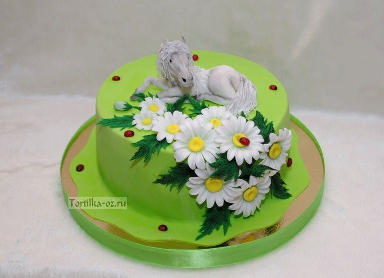 Фото торт с лошадками 027