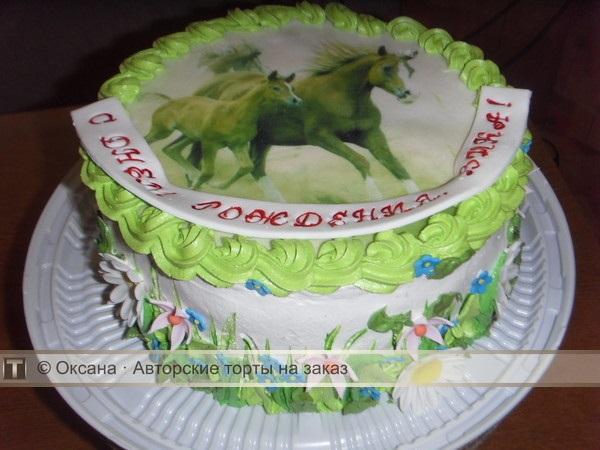 Фото торт с лошадками 028