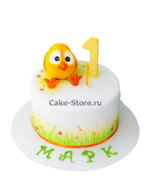 Фото торт с цыпленком 001