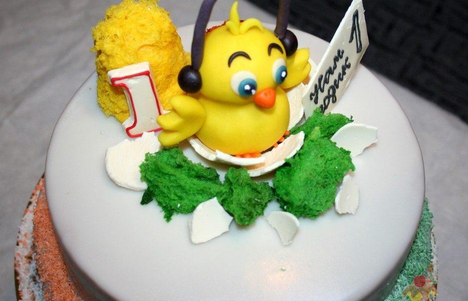 Фото торт с цыпленком 030