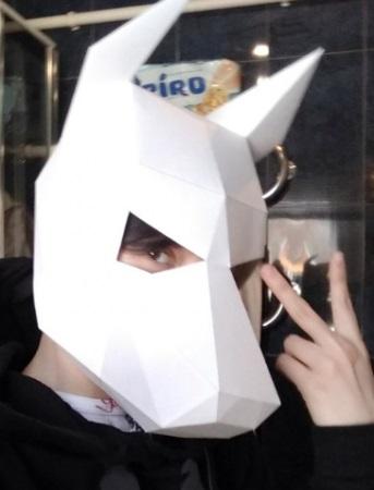3d маски из бумаги для детей и взрослых 001