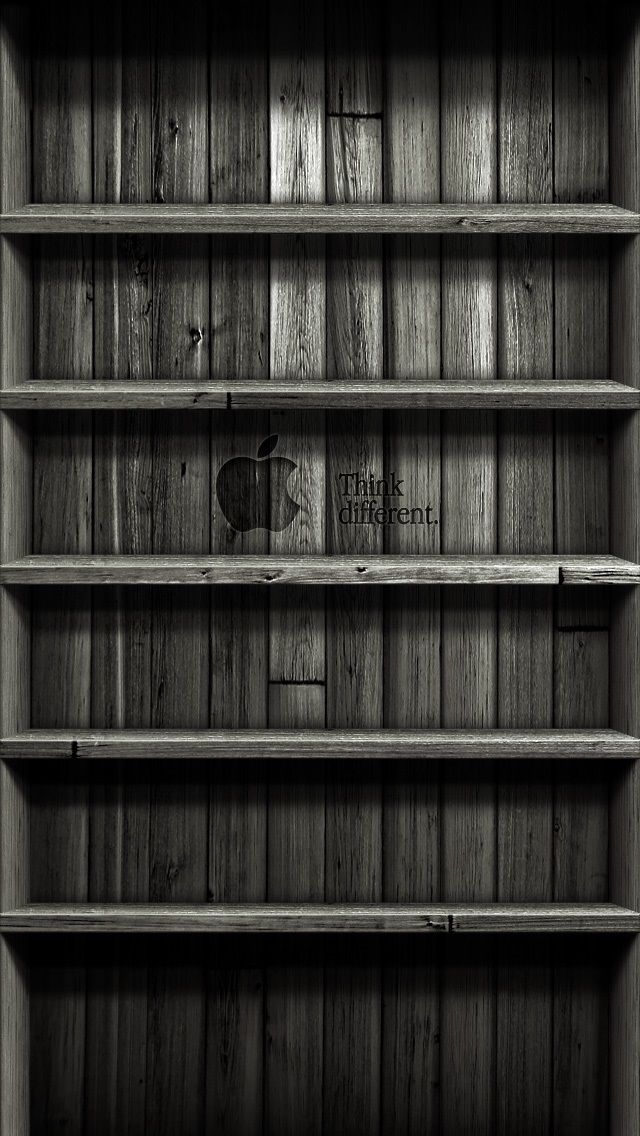 Iphone 5s wallpapers shelves 008