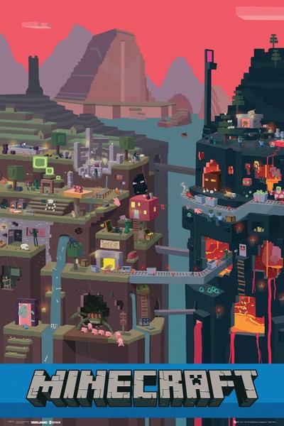 Minecraft плакат 001