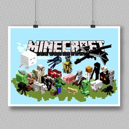 Minecraft плакат 021