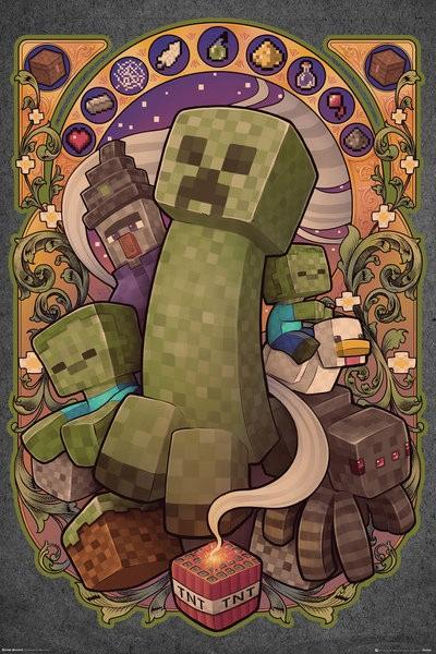 Minecraft плакат 026