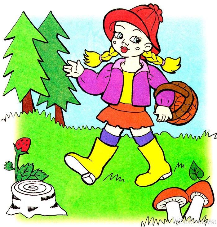 Девочки в лесу картинки для детей 001