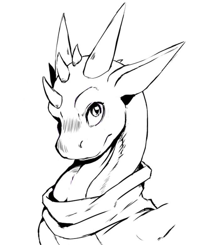 Картинки дракона карандашом для срисовки 029