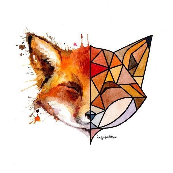 Картинки лисы для срисовки 001