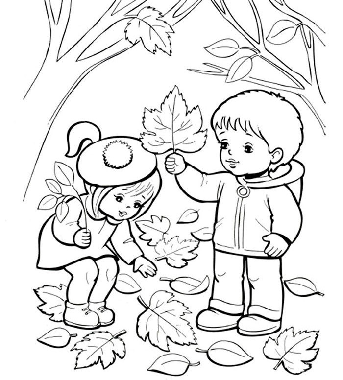 Картинки осени для срисовки карандашом 001