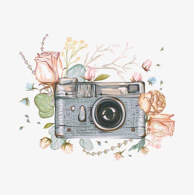 Рисунок фотоаппарата акварелью 009