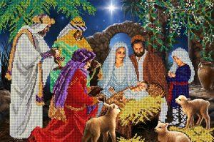 Рождество христово вышивка крестом 029