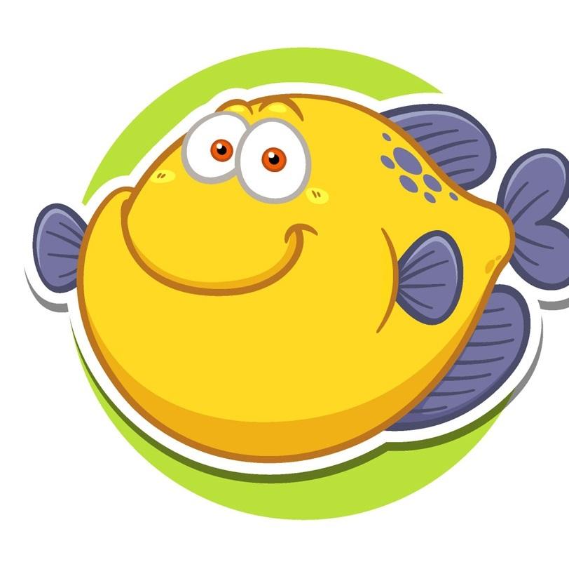 Рыбка картинка на шкафчик 001