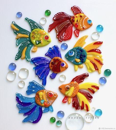 Рыбка картинка на шкафчик 006
