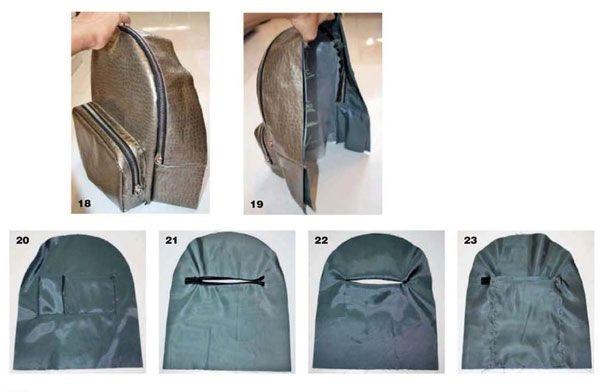 Рюкзак выкройка из кожи 001