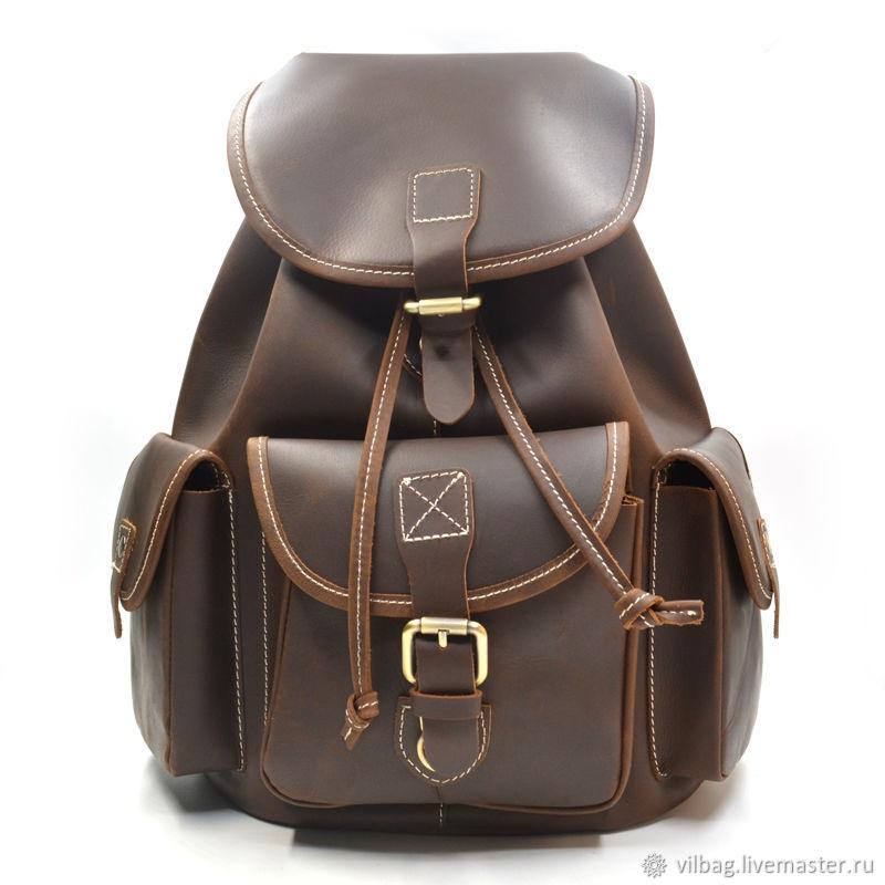 Рюкзак выкройка из кожи 005