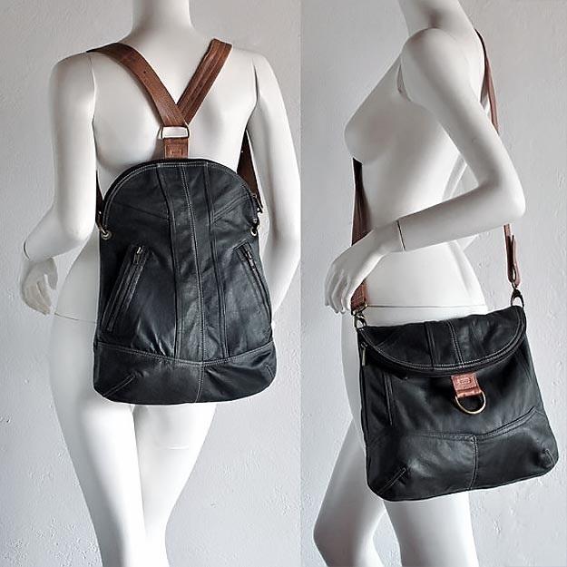 Рюкзак выкройка из кожи 013
