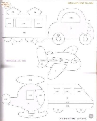 Самолеты из фетра выкройки 012