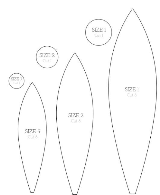 Самолеты из фетра выкройки 017