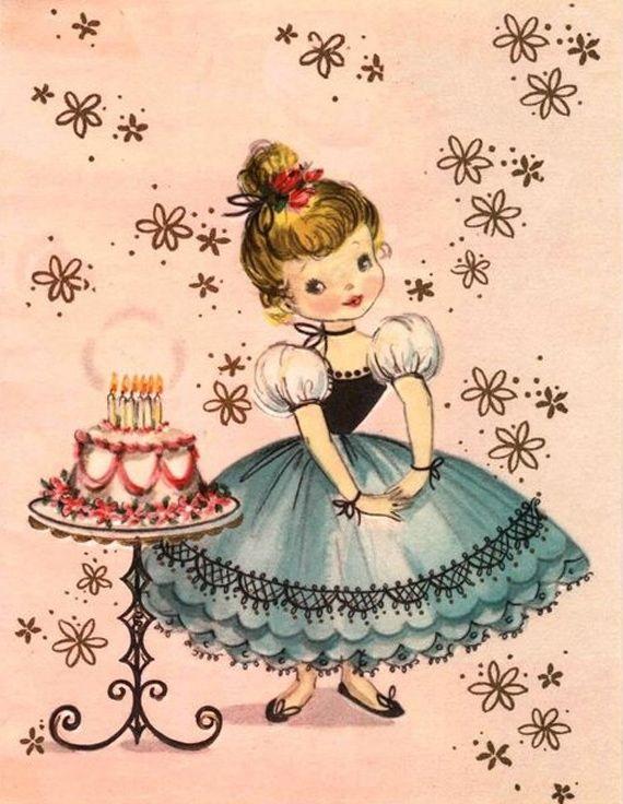 С днем рождения картинки в стиле винтаж 015