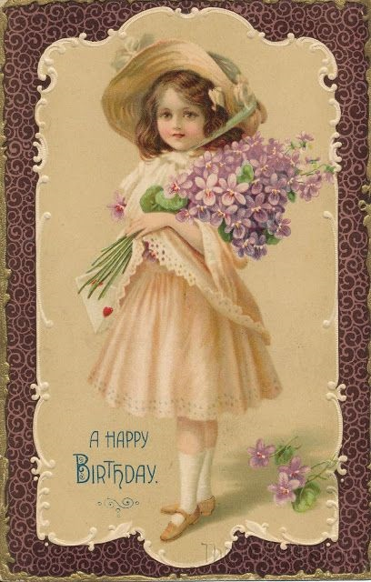С днем рождения картинки в стиле винтаж 025