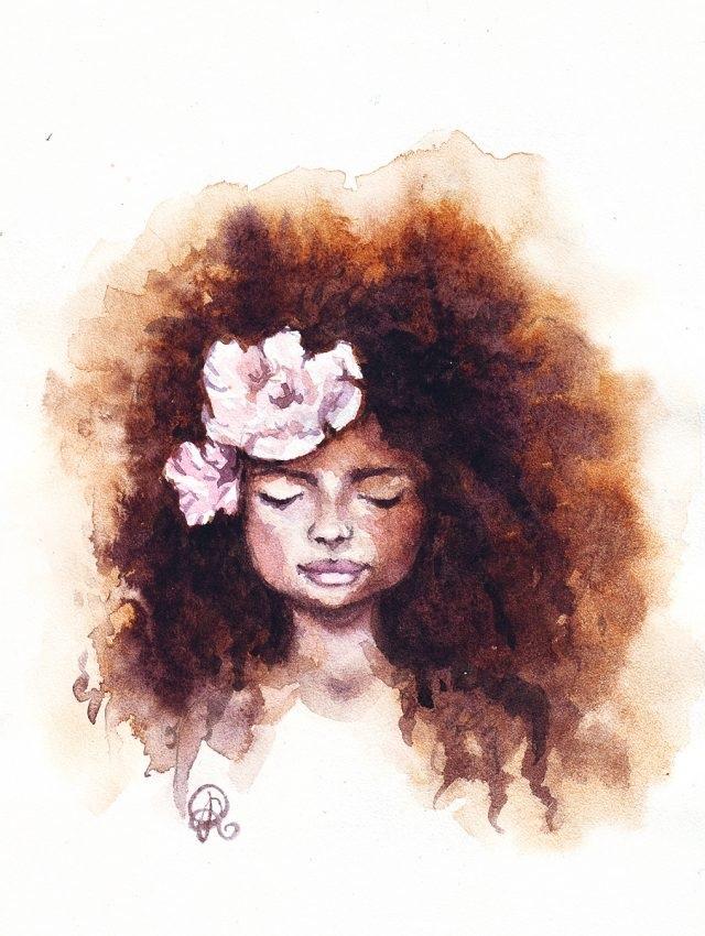 Арт картинки кудрявые девочки 001
