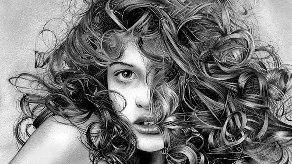 Арт картинки кудрявые девочки 012
