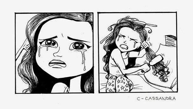 Арт картинки кудрявые девочки 015