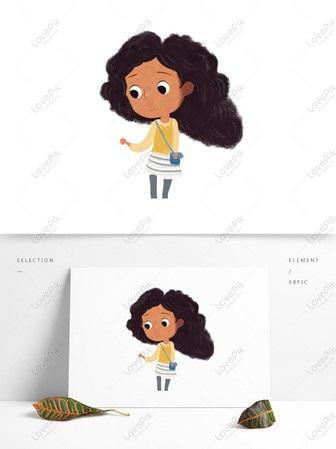 Арт картинки кудрявые девочки 016