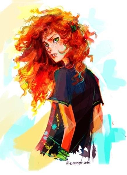 Арт картинки кудрявые девочки 019