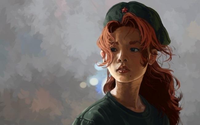 Арт картинки кудрявые девочки 021