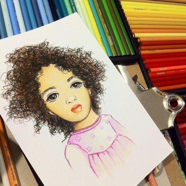 Арт картинки кудрявые девочки 023