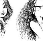 Арт картинки кудрявые девочки