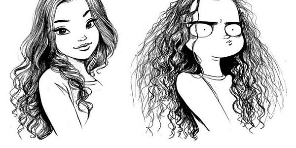 Арт картинки кудрявые девочки 024
