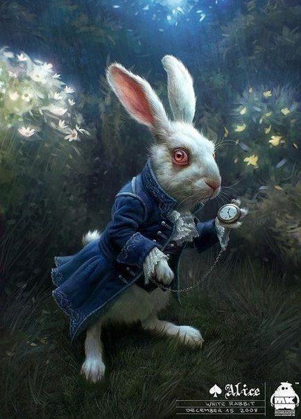 Картинки белого кролика из Алиса в стране чудес 001