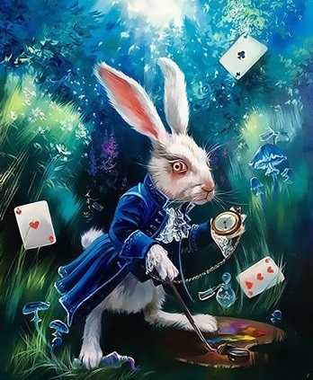 Картинки белого кролика из Алиса в стране чудес 007