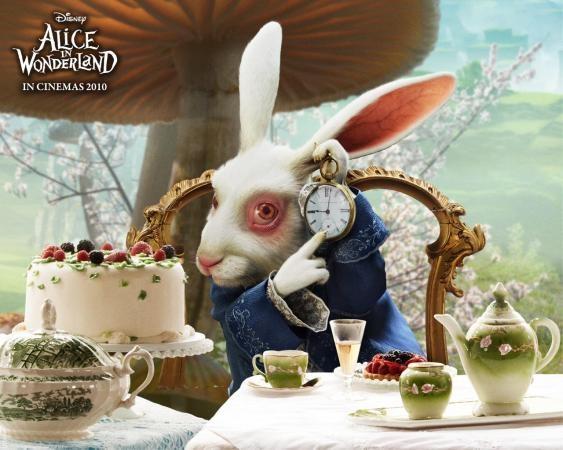 Картинки белого кролика из Алиса в стране чудес 008