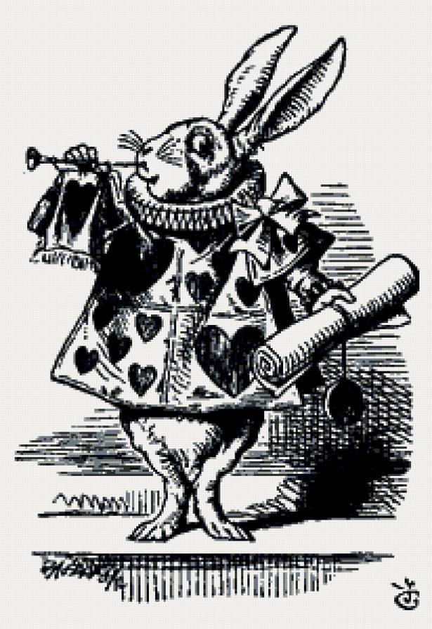 Картинки белого кролика из Алиса в стране чудес 017