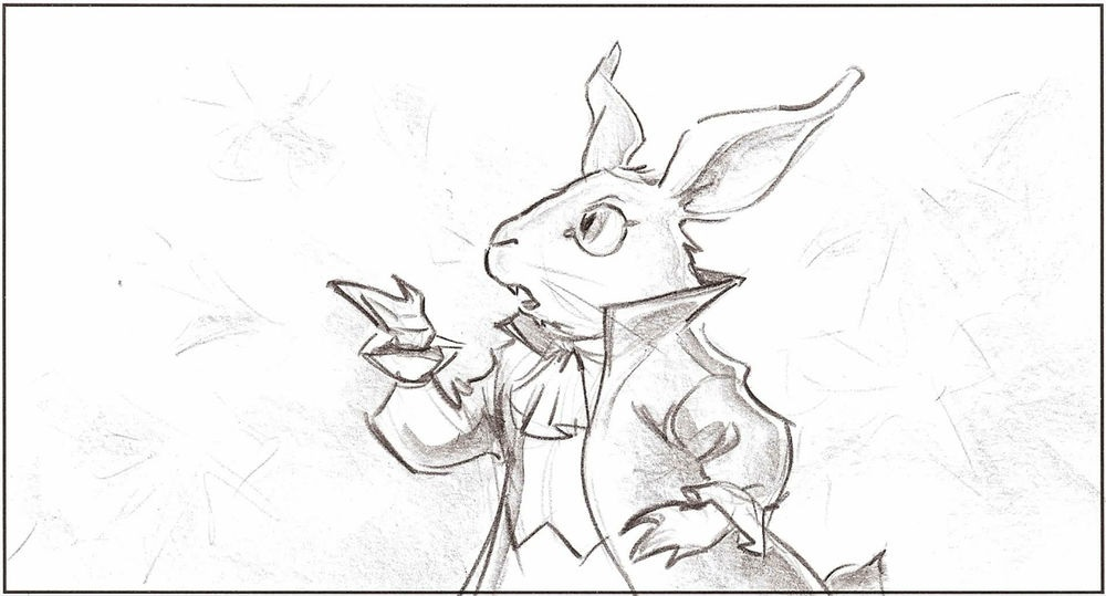 Картинки белого кролика из Алиса в стране чудес 018